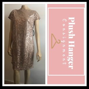 Gold Jessica Howard Cocktail Dress Size 14